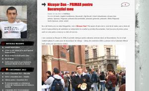 Postare de pe blogul lui George Simion în care îl stimează enorm pe prietenul său Nicușor Dan